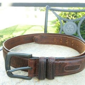 Columbia Brown Leather Belt Size 42 waist